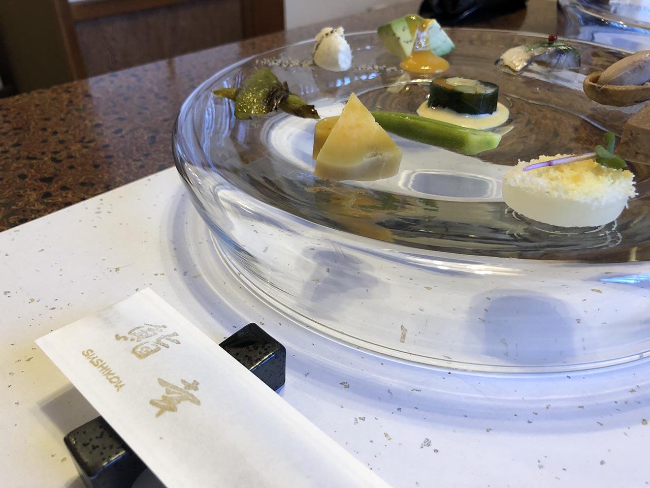 鮨幸のお寿司ランチの前菜