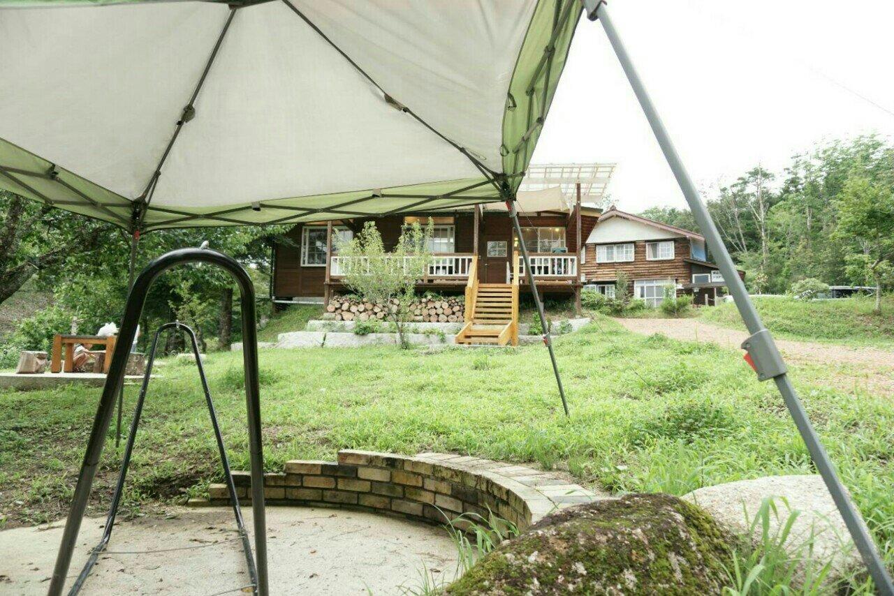 お庭のタープから見えるキュルティヴァトゥール