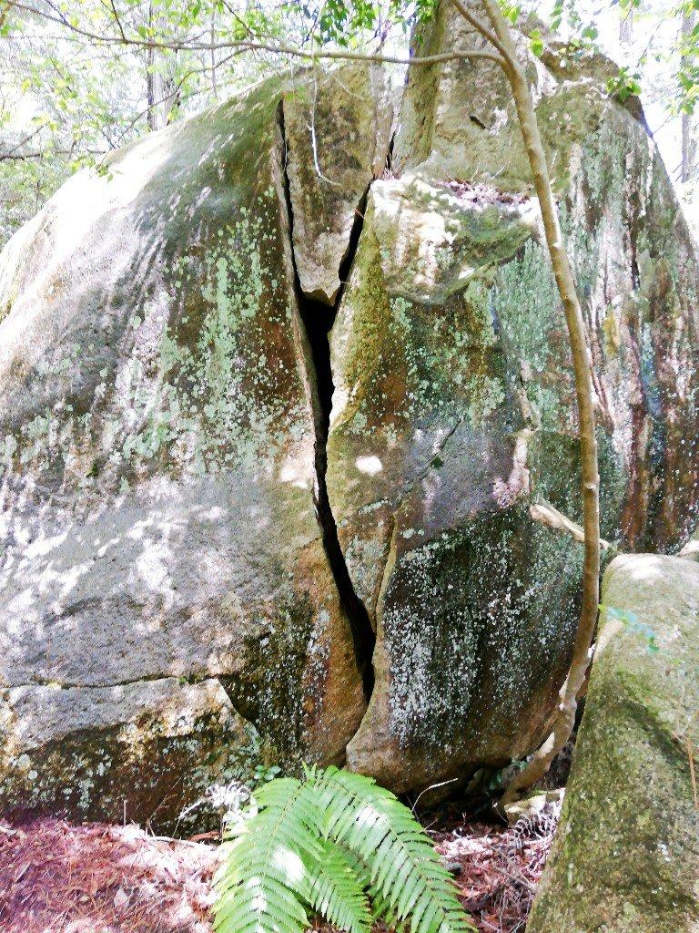 中津川市蛭川の巨大岩