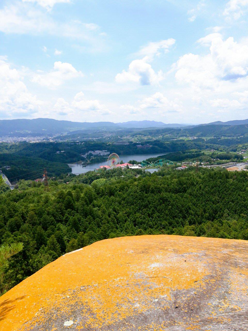 紅岩からの恵那峡の景色