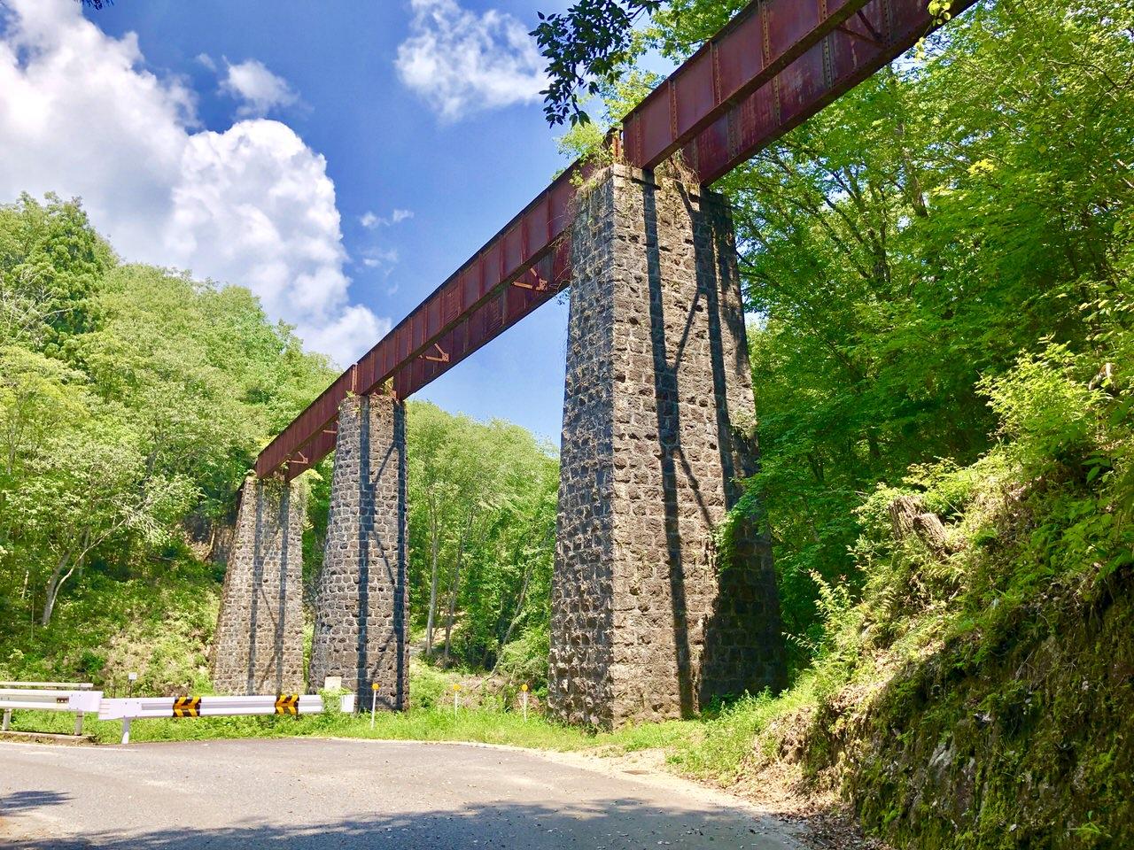 北恵那鉄道廃線跡の上地橋梁