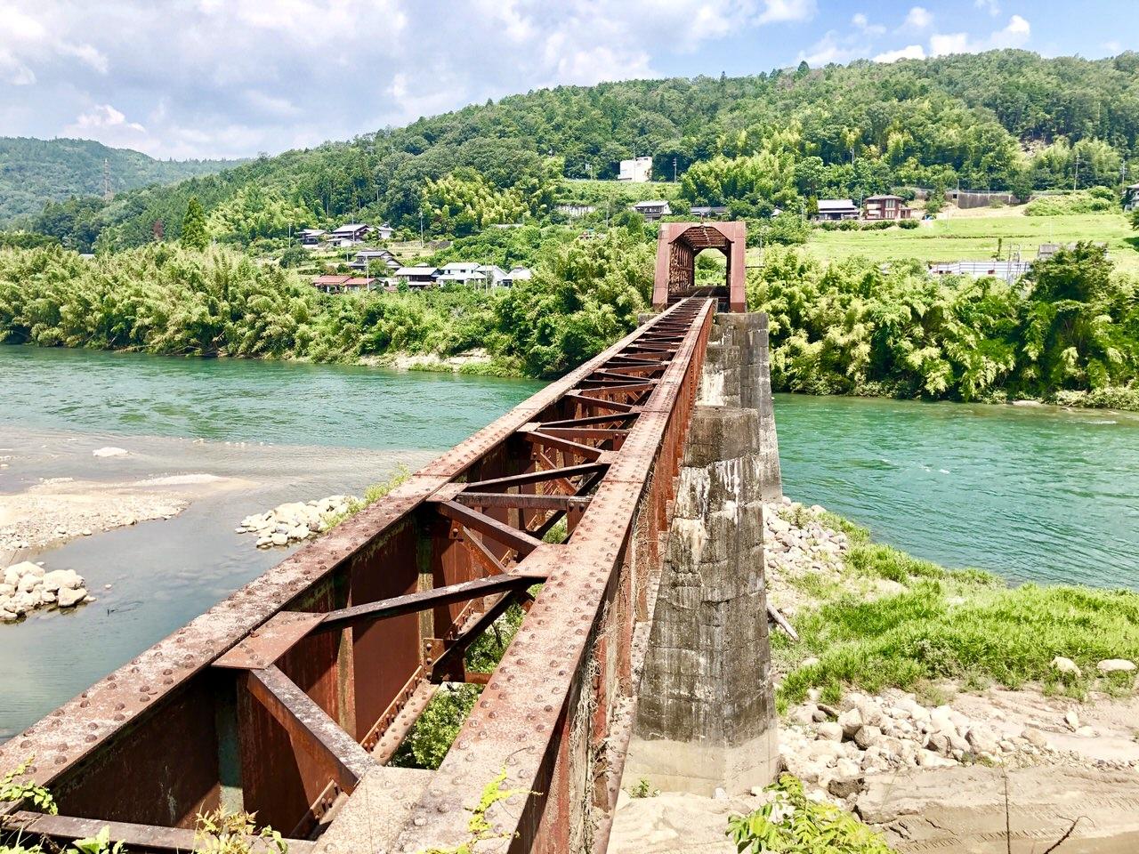 北恵那鉄道廃線跡の木曽川橋梁