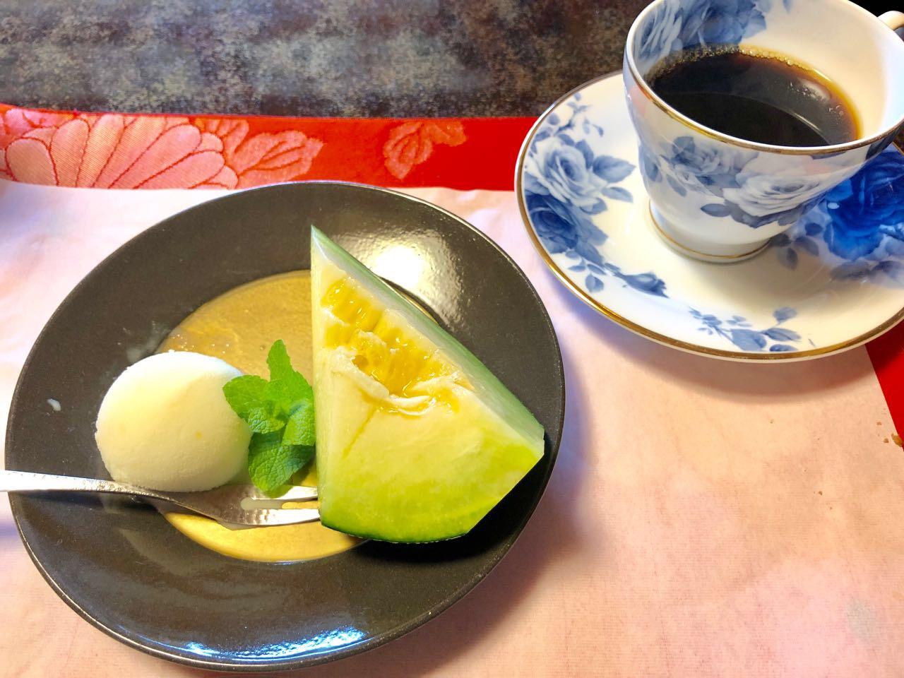 恵那市の食事水半茶寮のデザート
