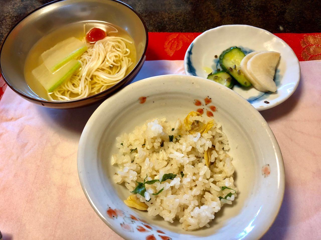 恵那市の食事水半茶寮のご飯