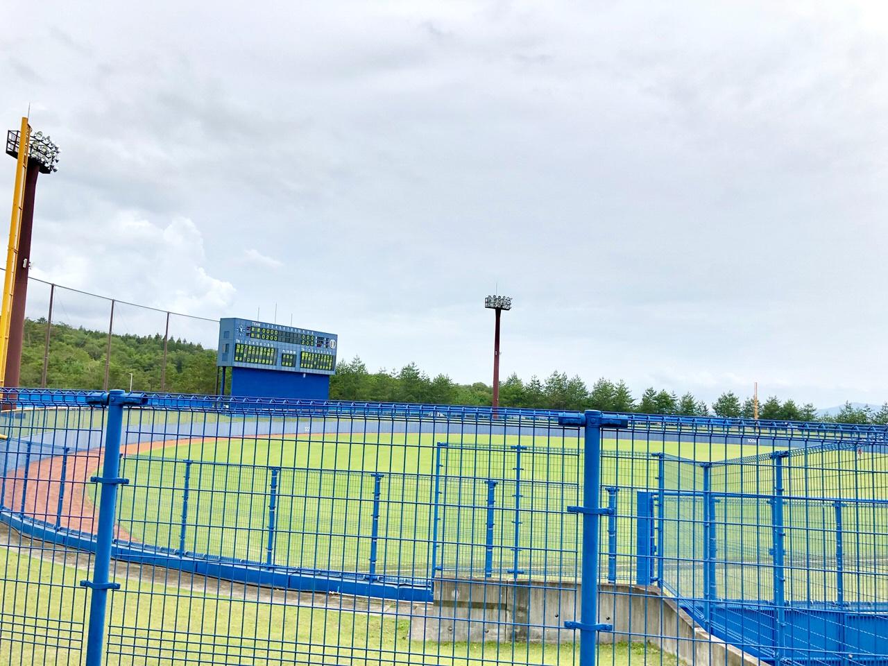 中津川公園野球場のスコアボード