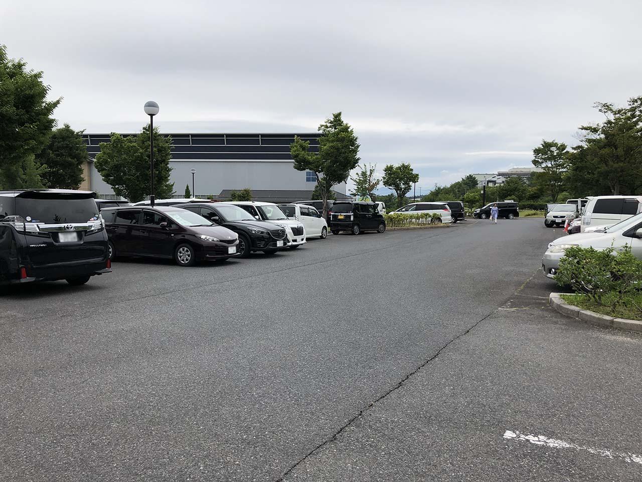 中津川公園の第4駐車場