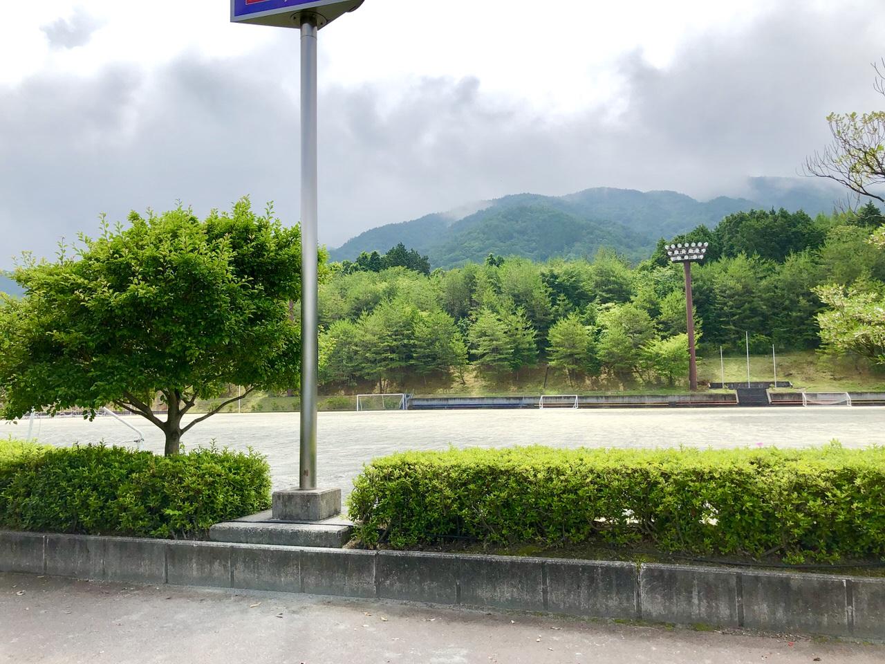 中津川公園多目的広場の横からの景色