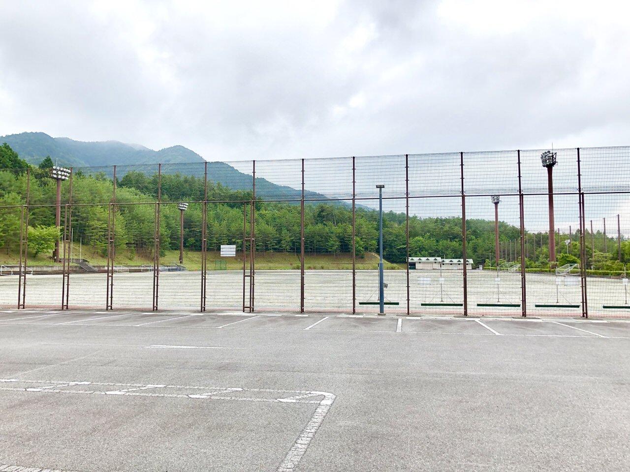 中津川公園多目的広場の第9駐車場からの景色