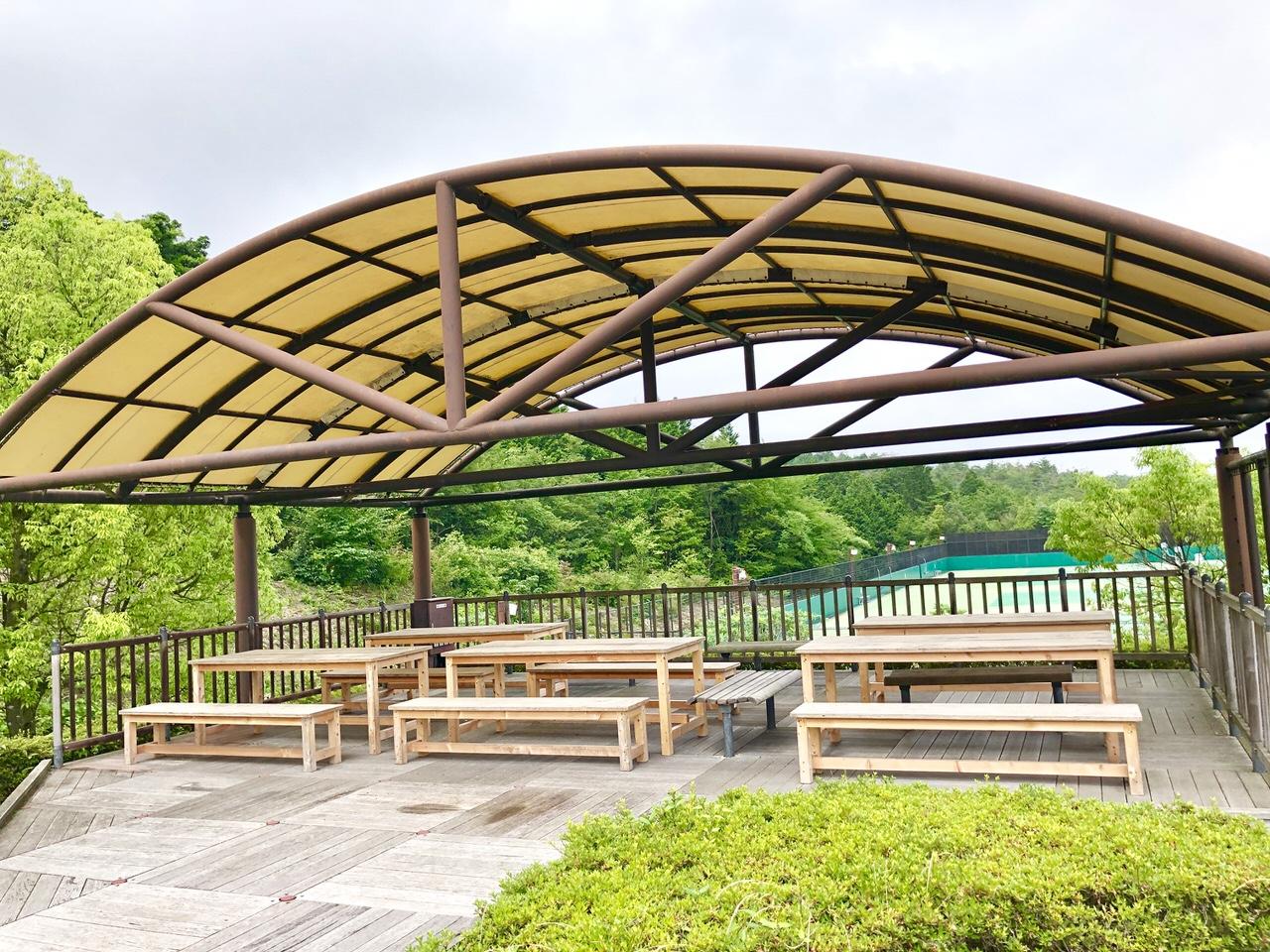 中津川公園のテニスコートを見学する場所