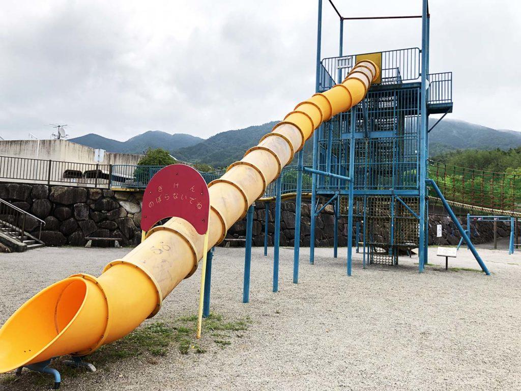 中津川公園の大型アスレチック