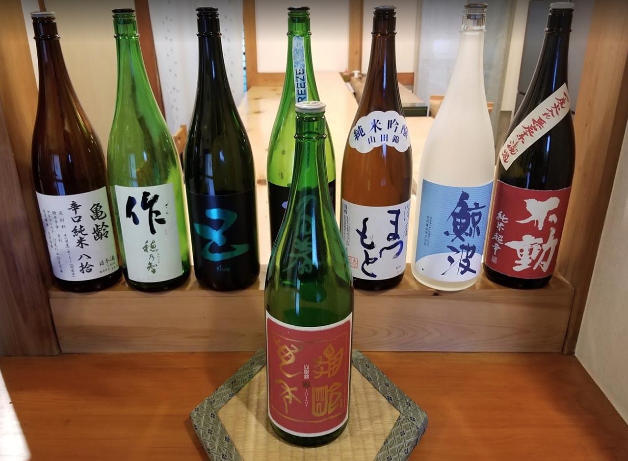 中津川の鮨幸のお酒