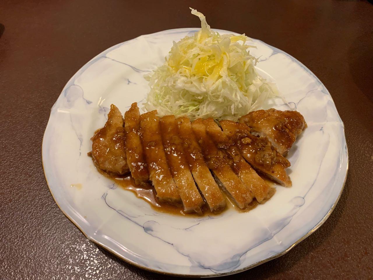 恵那 駅前 和洋亭 ますき 豚肉のジンジャーステーキ