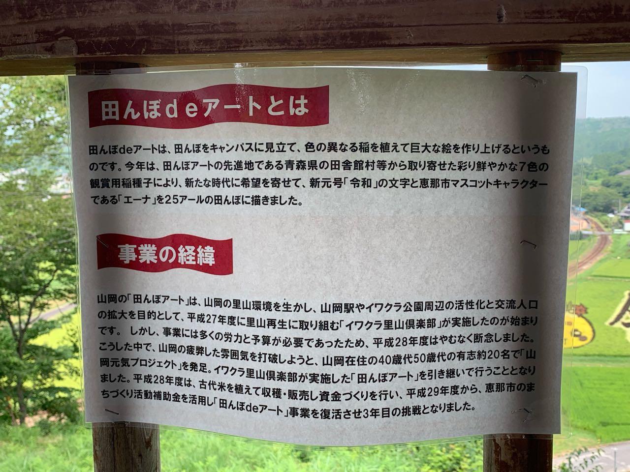 田んぼアート 山岡町 恵那市 イワクラ公園