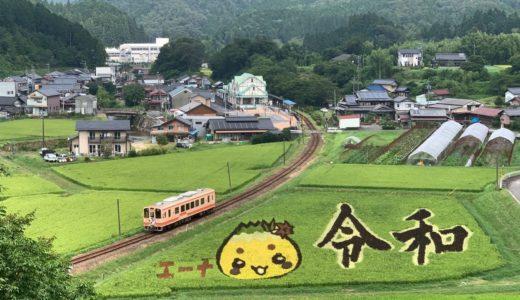恵那市山岡町の『田んぼアート』が凄い !
