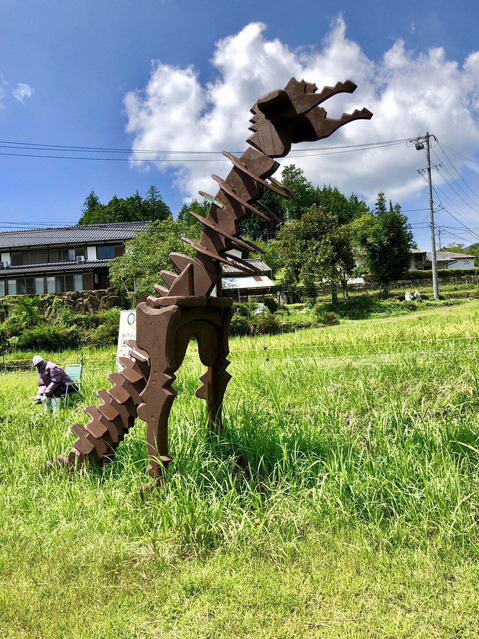 リアルかかしの恐竜