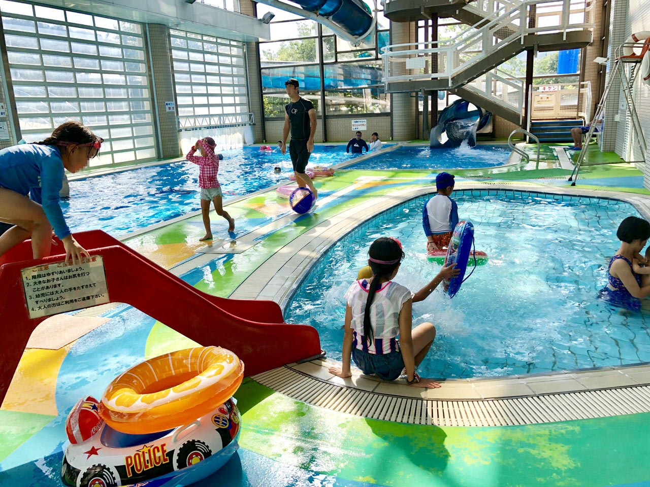 中津川のクアリゾート湯舟沢の子供温水プール