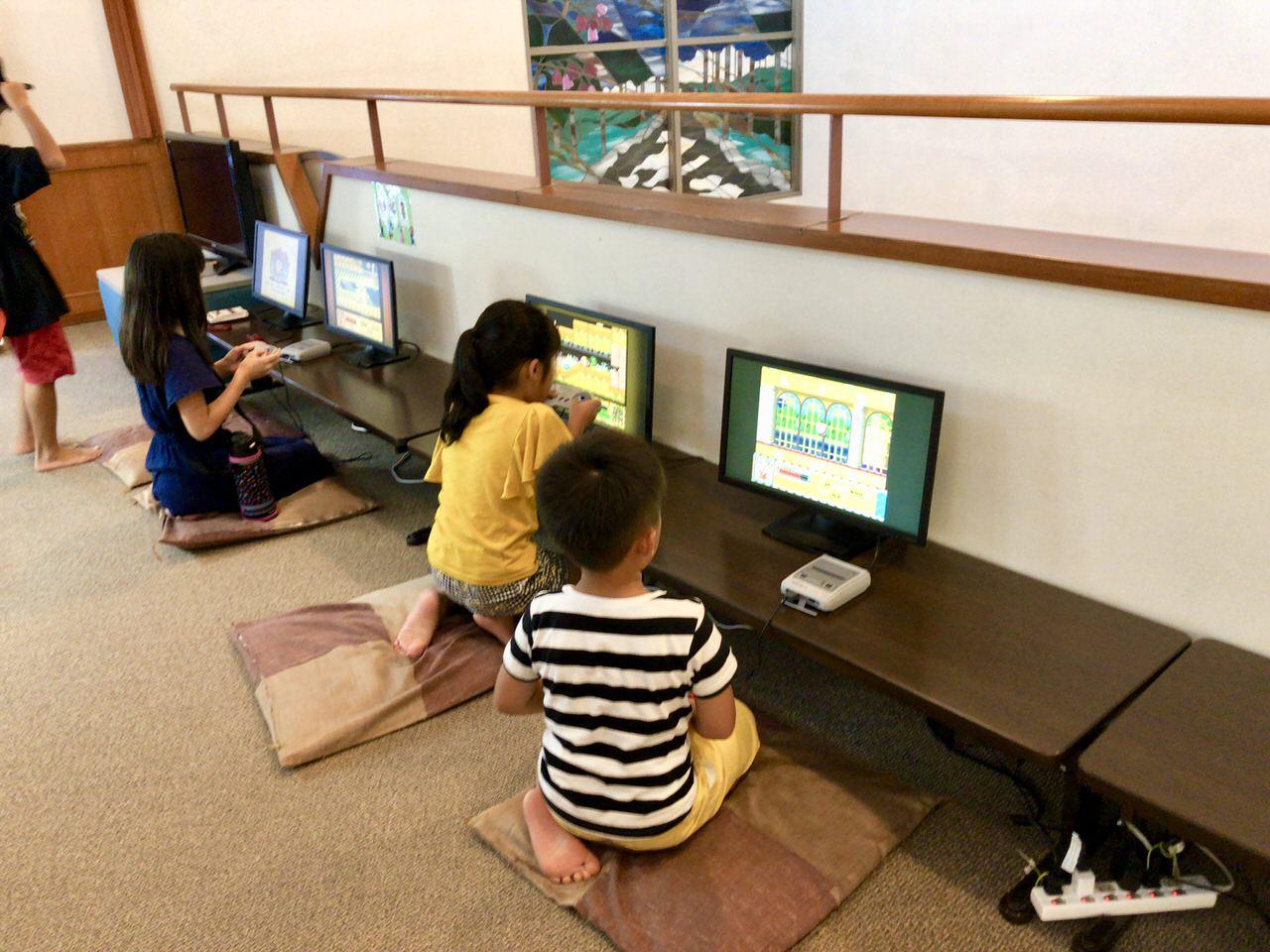 クアリゾート湯舟沢のテレビゲームコーナー