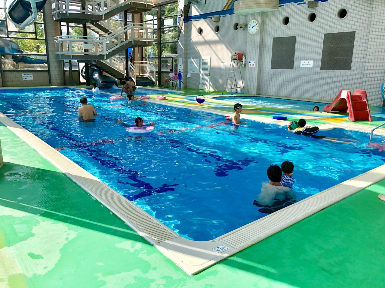 中津川のクアリゾート湯舟沢の温水プール