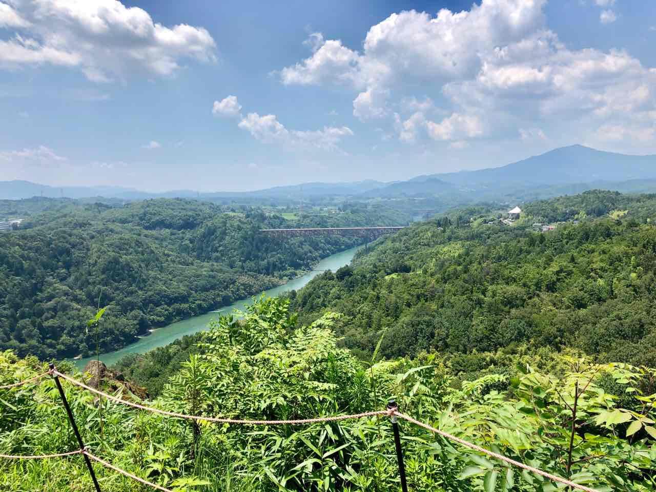 中津川の苗木城跡いい景色