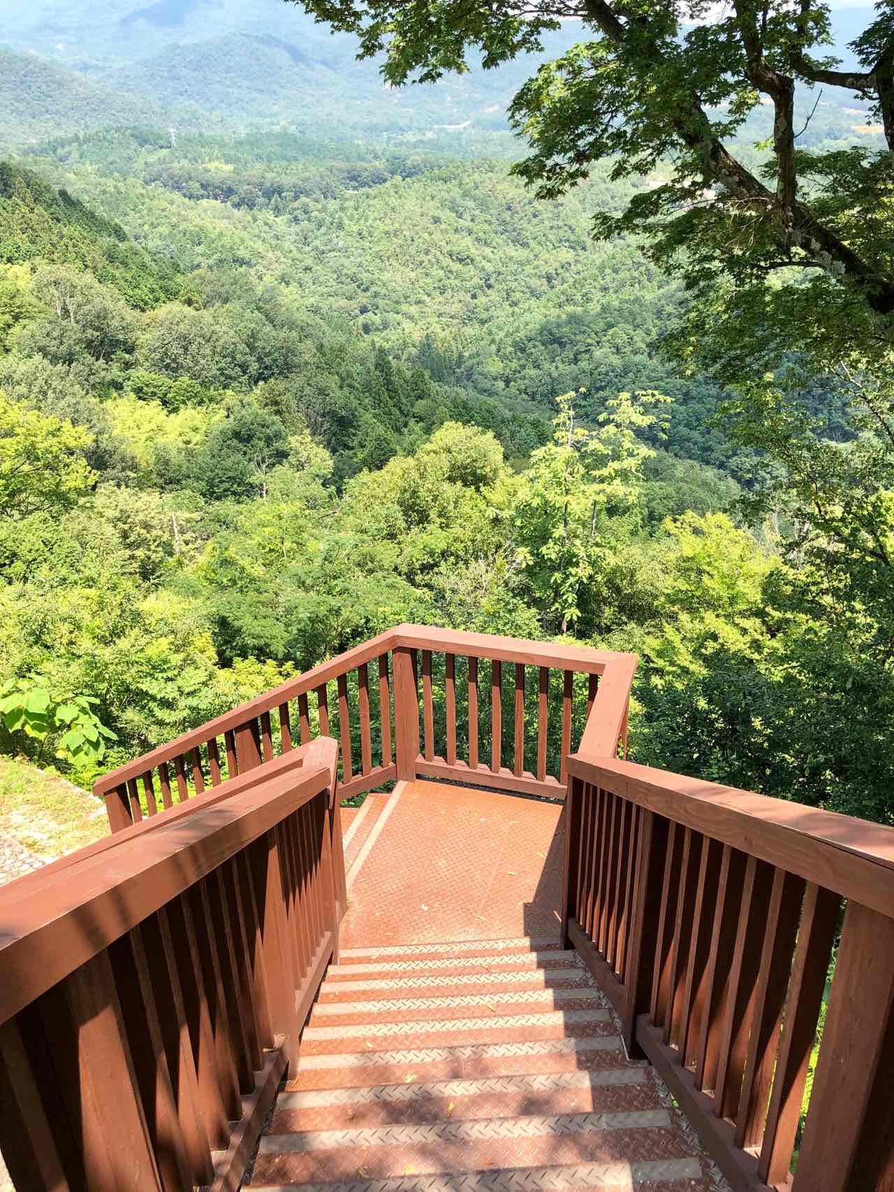 苗木城跡の階段