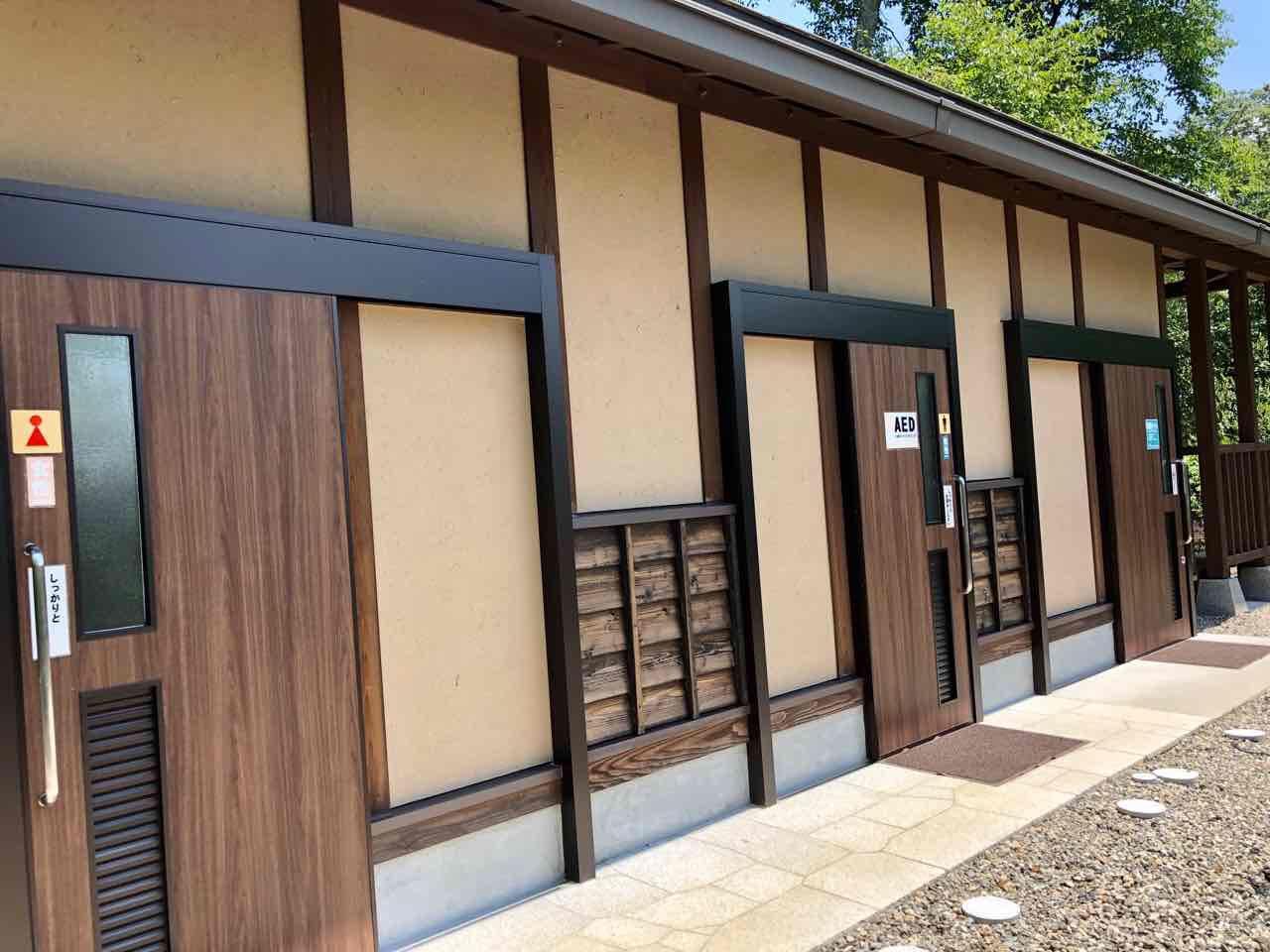 中津川の苗木城トイレ