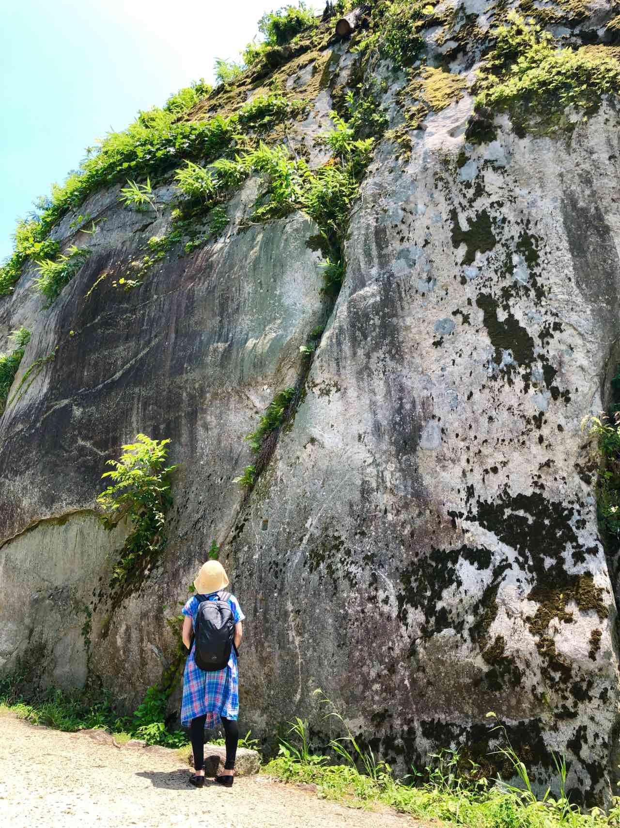 山城の巨岩