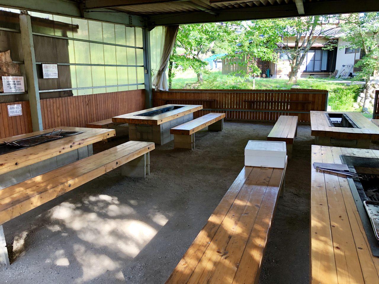 福岡ローマン渓谷オートキャンプ場のBBQハウス