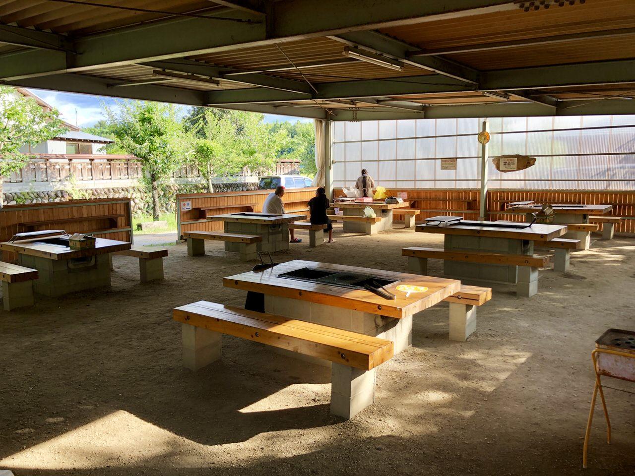 福岡ローマン渓谷オートキャンプ場のバーベキュー場