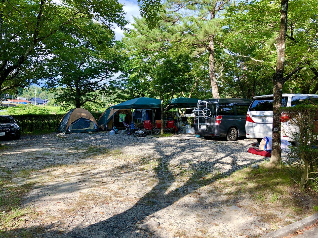 福岡ローマン渓谷オートキャンプ場のテントサイト