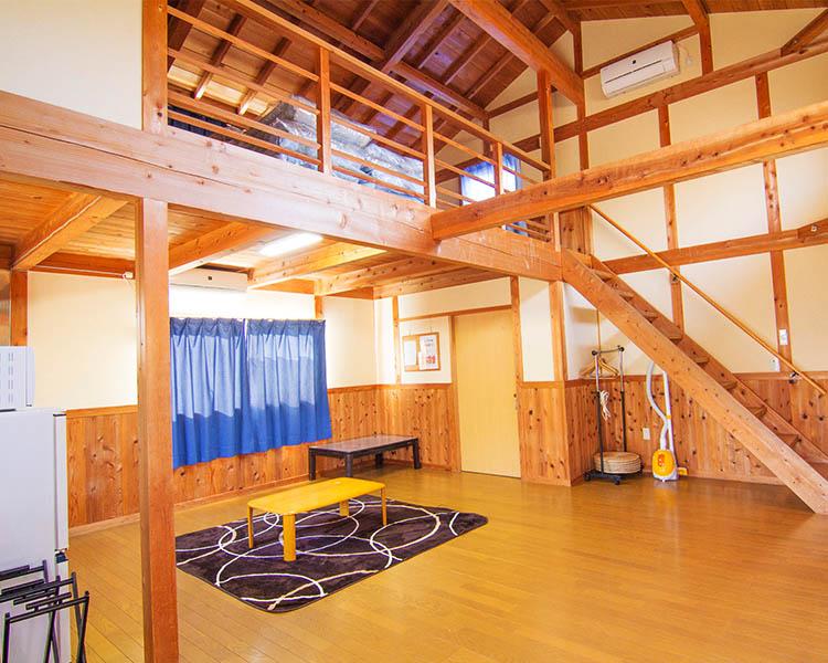 福岡ローマン渓谷オートキャンプ場のロッジ室内