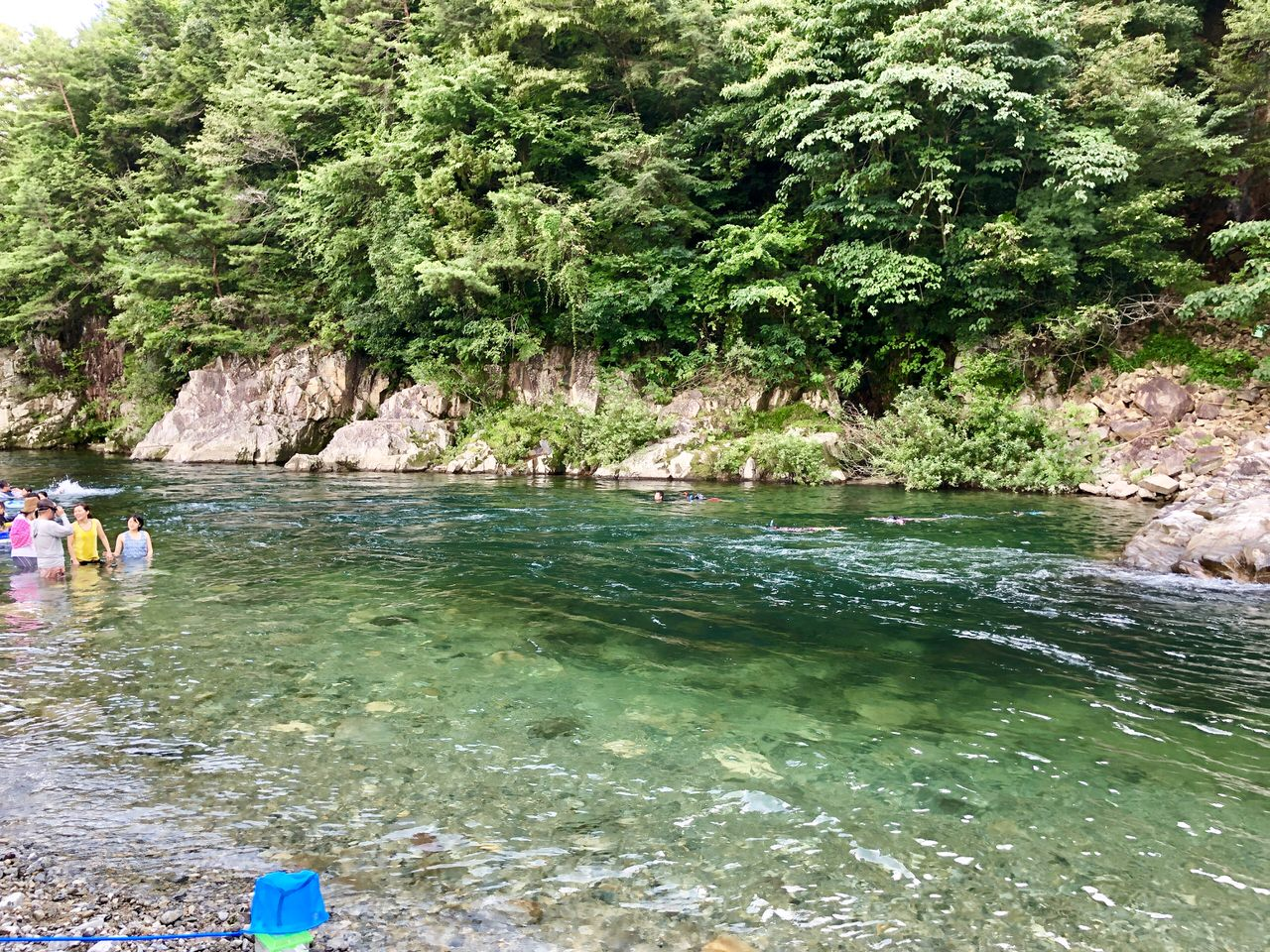 福岡ローマン渓谷オートキャンプ場の川