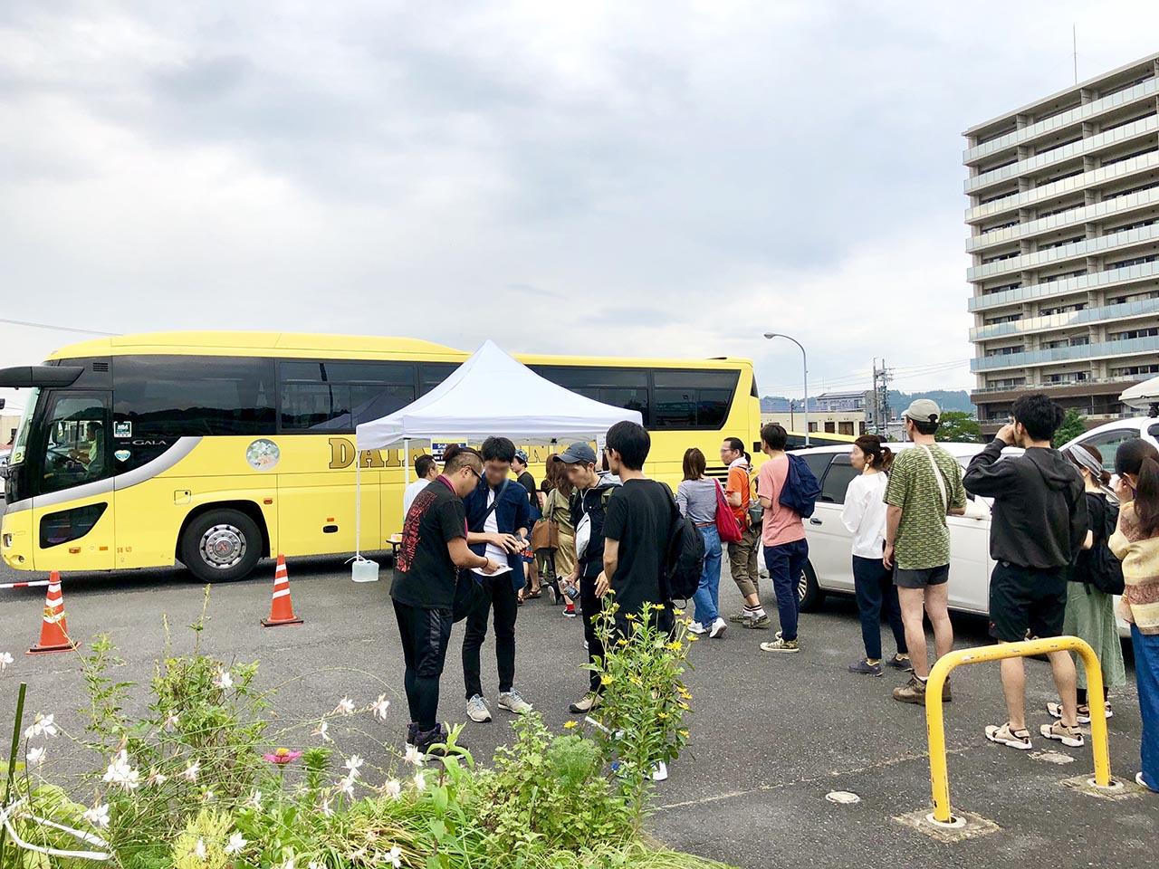 中津川ソーラーシャトルバスにぎわい広場