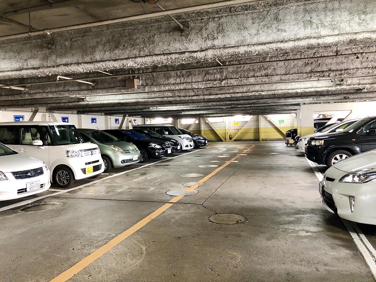 中津川駅前市営駐車場立体の中