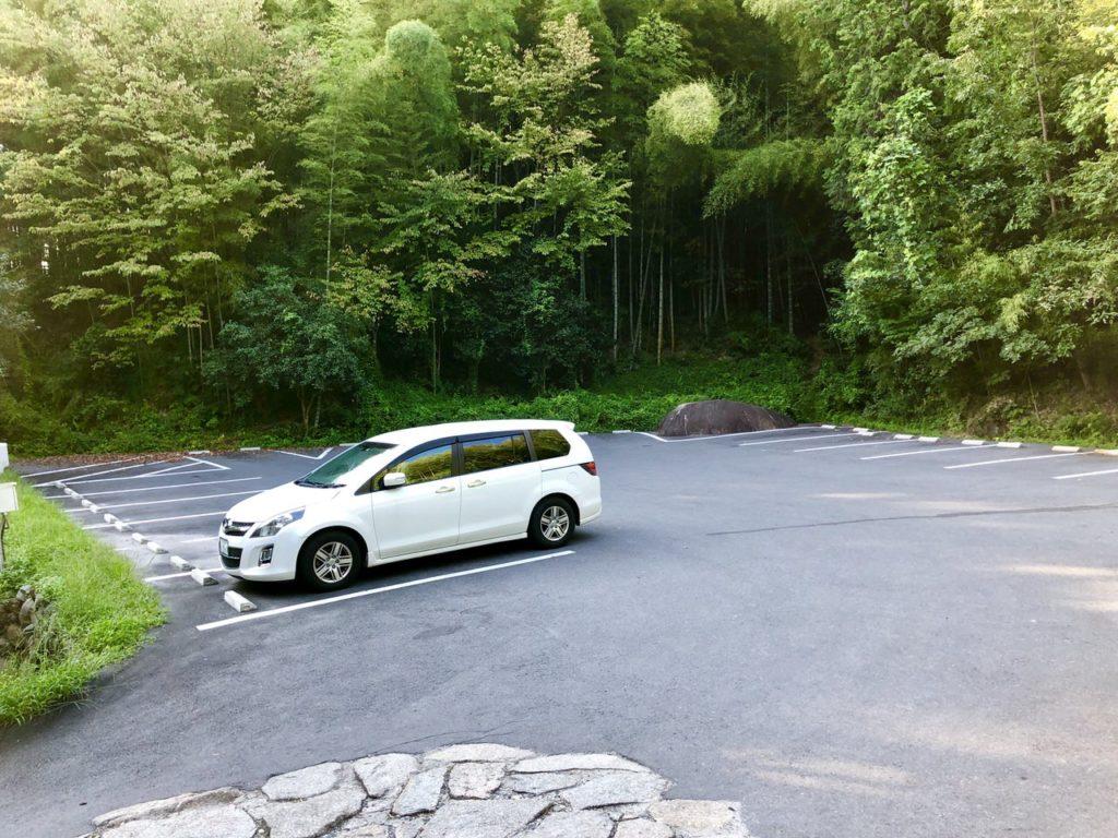 苗木城跡第一駐車場