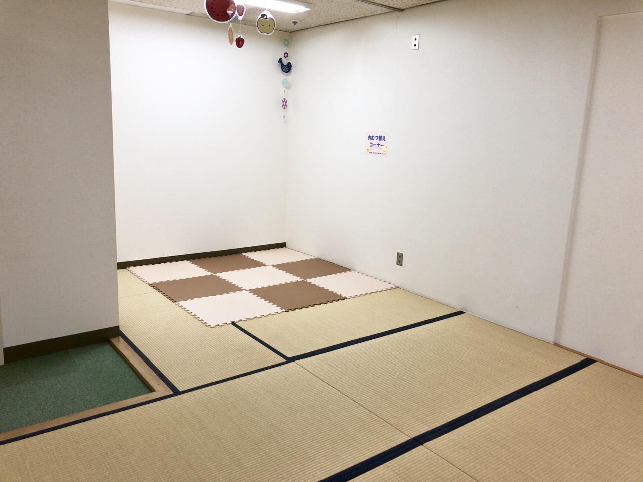 にぎわいプラザ子育て支援センターおむつ替えコーナー