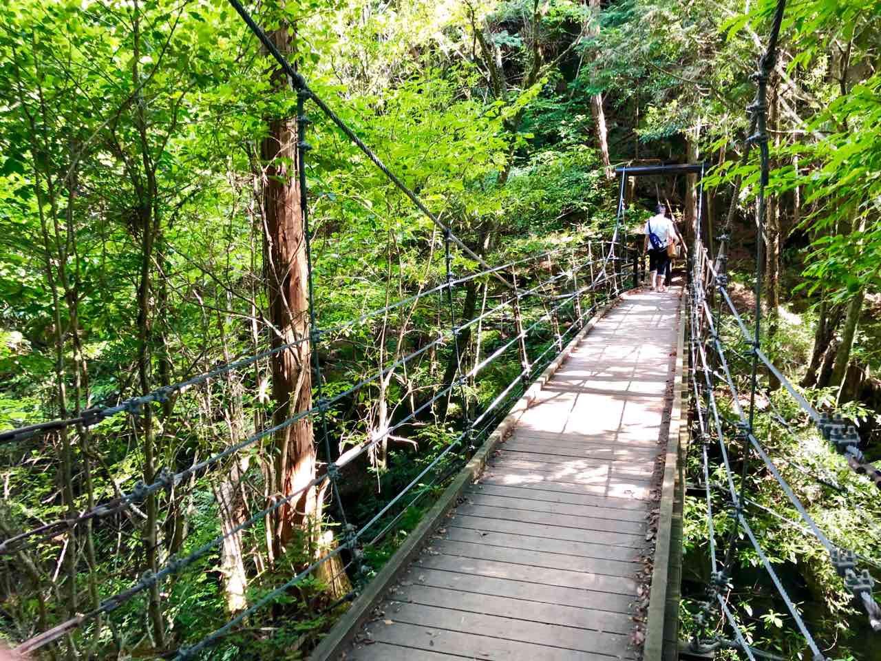中津川の付知峡にある吊り橋