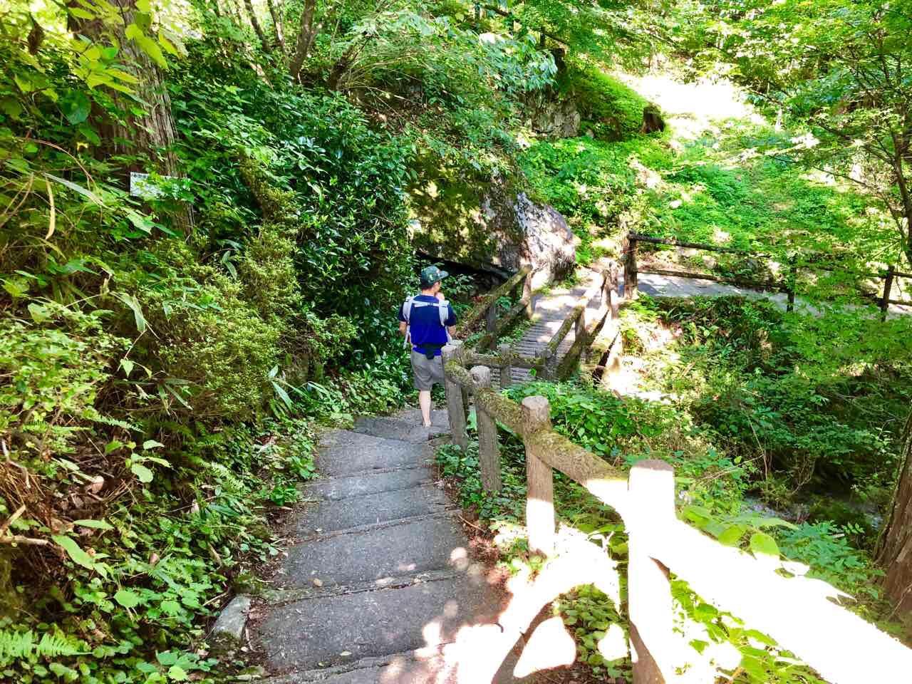付知峡を歩く