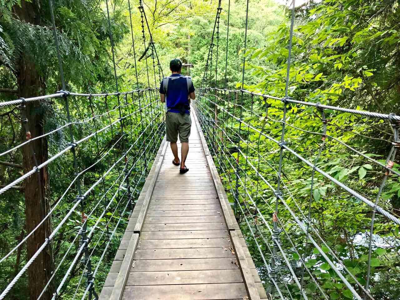 付知峡の吊り橋